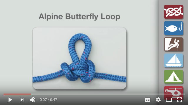 Butterfly knot-tying video