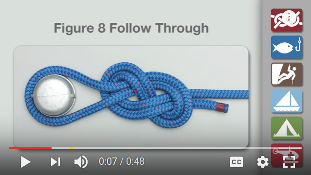 Figure 8 knot-tying video