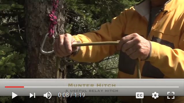 Munter Hitch knot-tying video