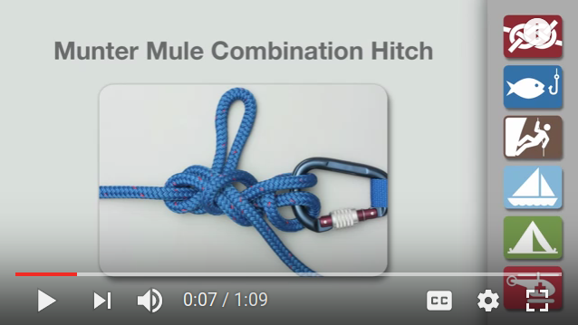 Munter Mule Hitch knot-tying video